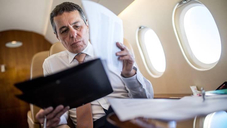 Als Aussenminister beansprucht Bundesrat Ignazio Cassis die Flugdienste im letzten Jahr am meisten.