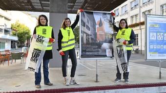 Xenia Hediger, Sandra Marek und Angela Kummer organisieren den Clean-up Day.