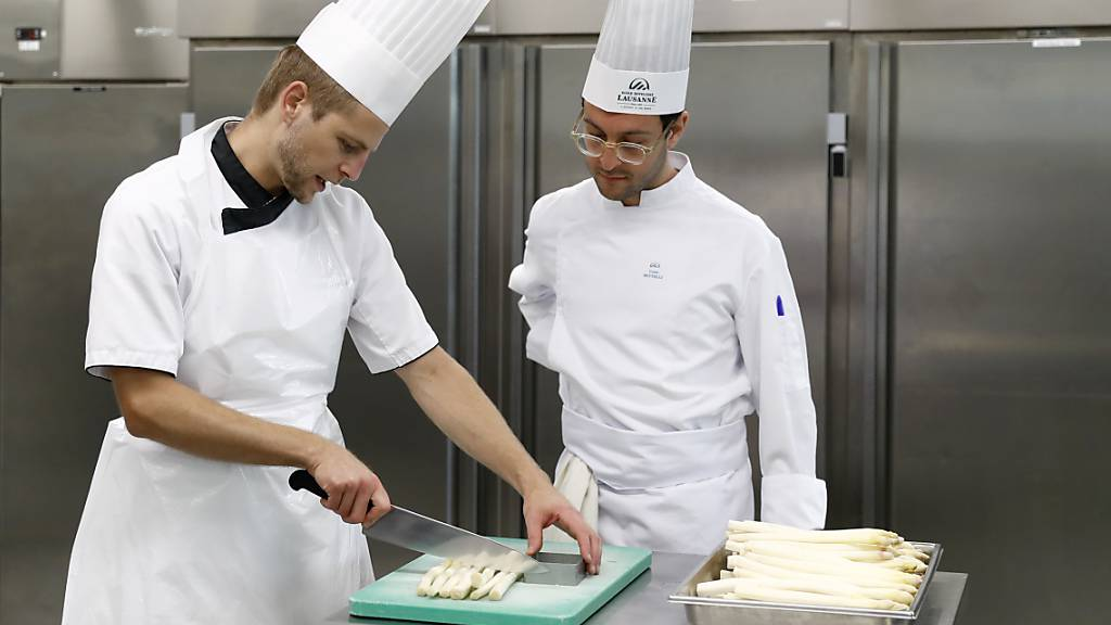 Unterricht an der Hotelfachschule in Lausanne.
