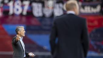 FCB-Trainer Marcel Koller muss mit ansehen, wie sein Team trotz 1:0-Führung erstmals unter ihm Punkte lässt.