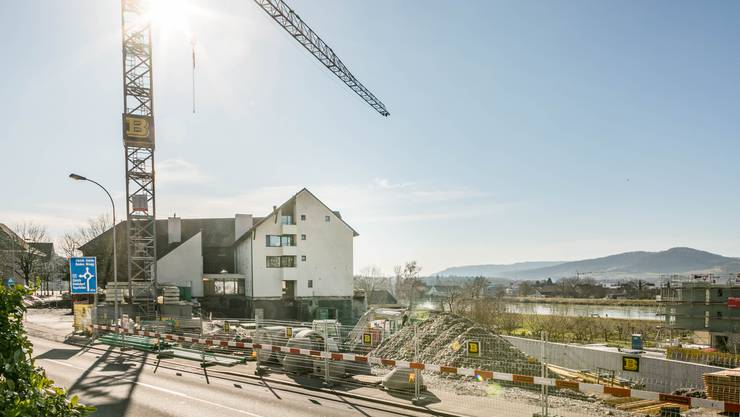 Das Untergeschoss des neuen Gebäudes nimmt bereits Formen an.