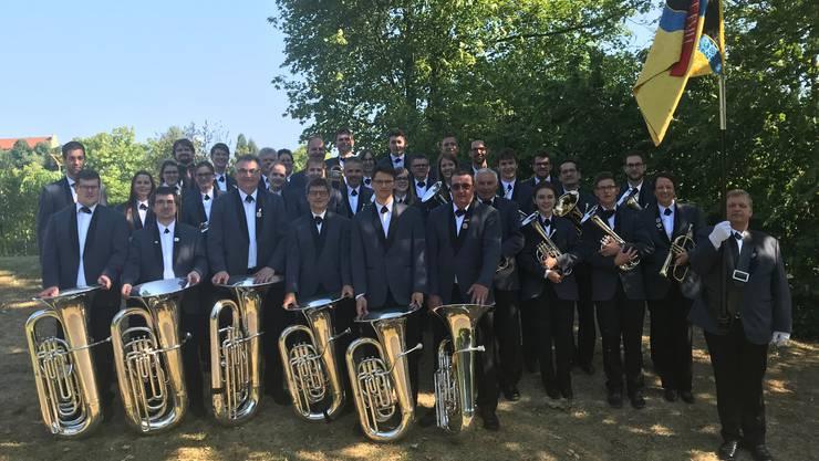Gesamtfoto der Brass Band Full am Musikfest Laufenburg