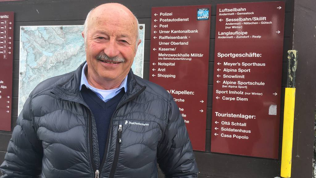 Hans Regli-Simmen ist Gemeindepräsident von Andermatt.