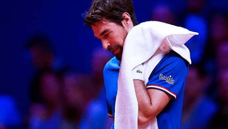 Jérémy Chardy musste sich im Davis-Cup-Final vor heimischem Publikum im ersten Einzel von Borna Coric geschlagen geben