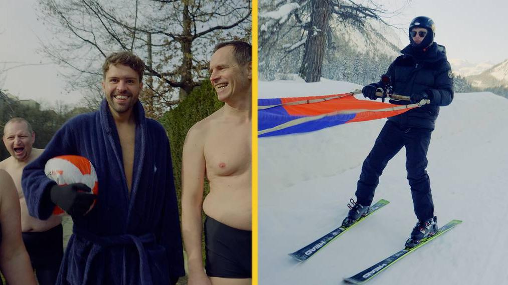 Folge 1: Nico und Marco beim Winterschwimmen und Skijöring