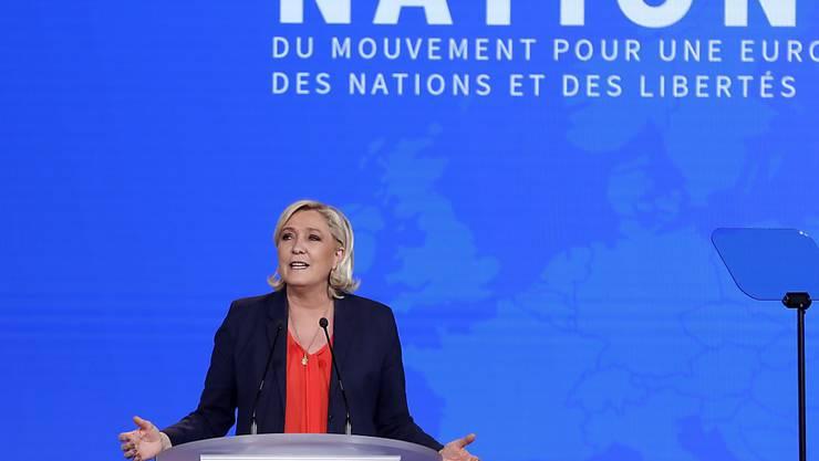 Macht sich Hoffnungen im Hinblick auf die Europawahlen: Front-National-Chefin Marine Le Pen in Nizza.