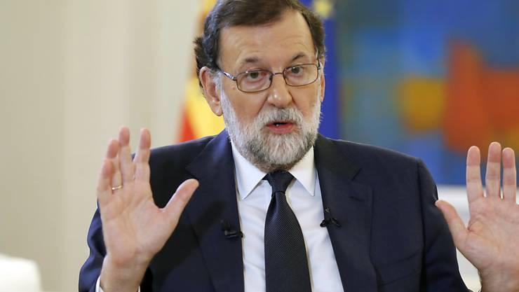 Keine Neuwahlen, keine Vermittlung: Spaniens Ministerpräsident Mariano Rajoy will notfalls die Autonomie Kataloniens aussetzen. (Archivbild)