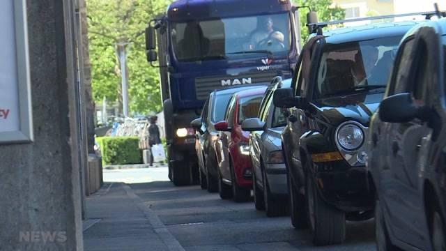 Geduldsprobe für Autofahrer in Thun