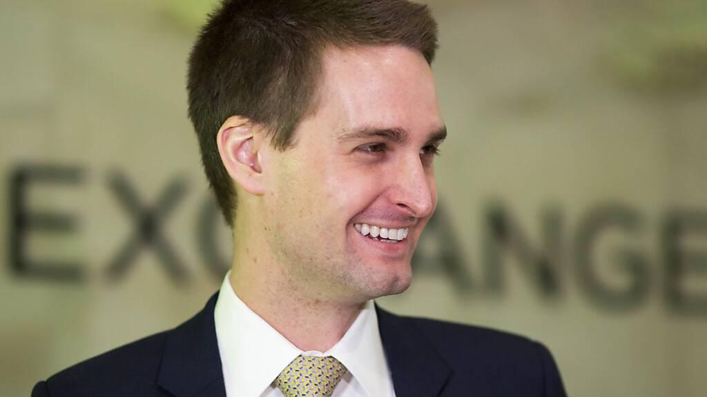 Kann sich freuen: Snapchat-CEO Evan Spiegel (Archivbild).