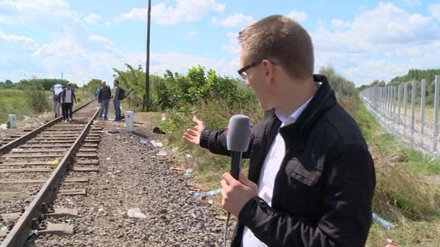 Situation am zentralen Fluchtpunkt aus Serbien