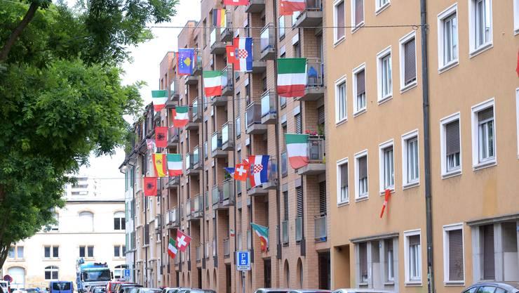 Das Rosentalquartier im Norden von Kleinbasel weist den grössten Ausländeranteil der ganzen Stadt auf.