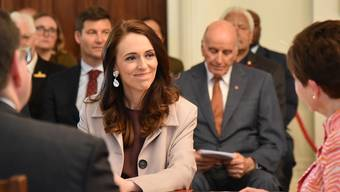 New Zealand Prime Minister Jacinda Ardern accepts her formal appointment as Prime Minister from Governor General Patsy Reddy in a ceremony at New Zealand's Government House in Wellington, Friday November 6, 2020. (AAP Image/Ben McKay) NO ARCHIVING, EDITORIAL USE ONLY