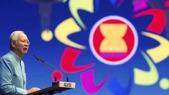 Malasyias Ministerpräsident Najib Razak spricht am ASEAN-Gipfel