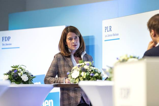 Petra Gössi während des Gesprächs