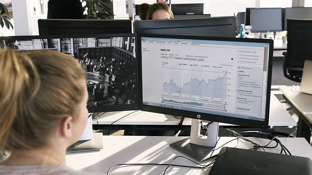 Die Schweizer Börse im Hoch: Der Leitindex SMI hat bei 9'790,11 Punkten ein neues Allzeithoch erreicht. (Archiv)