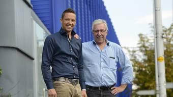 Roland Borer (rechts) stünde Jungpolitikern wie Christian Imark in der Sonne, monieren aufmüpfige SVPler. Doch der Kestenholzer und der Schwarzbube nehmen es trotz Wahlkampfstress gelassen.