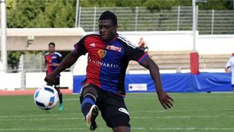 Wieder einmal trifft Neftali Manzambi  für den FCB.