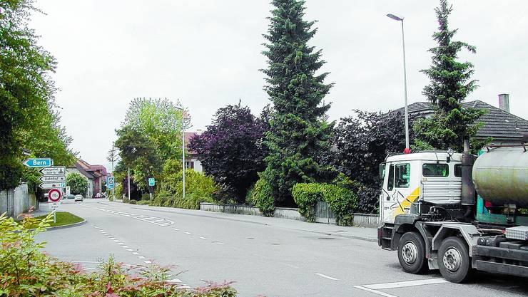 Bis Hierher: Eine der Massnahmen: Die Durchfahrt durchs Stedtli soll künftig Lastwagen im Transitverkehr verweigert werden. (Bild: sl)