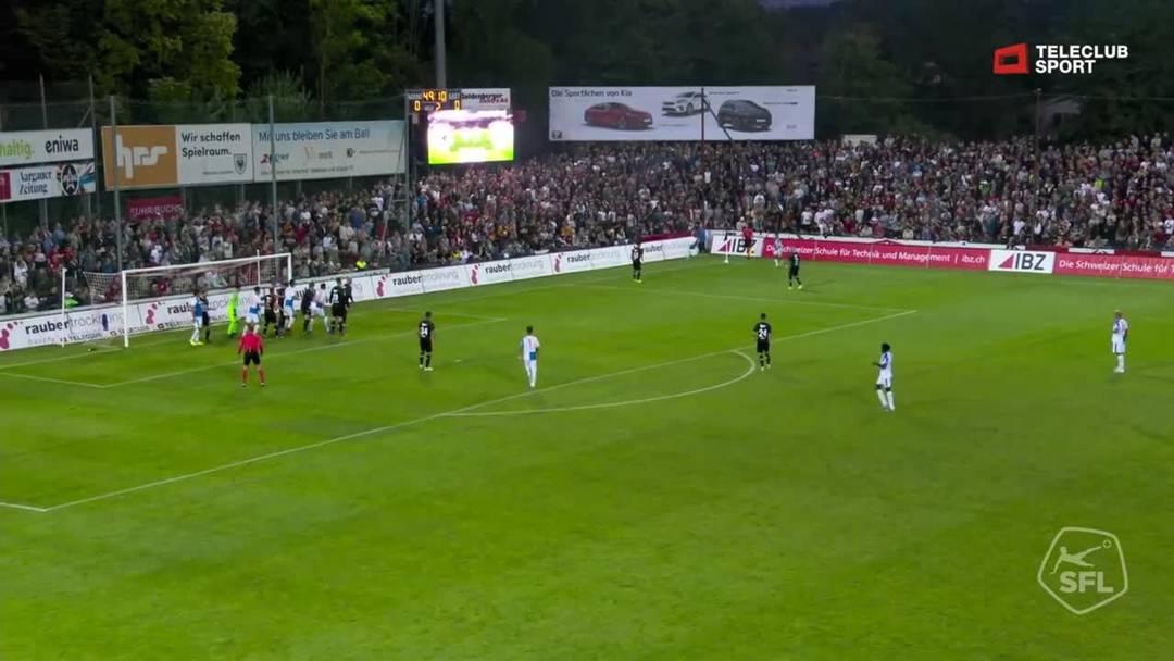 Challenge League, 2019/20, 3. Runde, FC Aarau – GC Zürich, 50. Minute: Tor von Marko Basic.