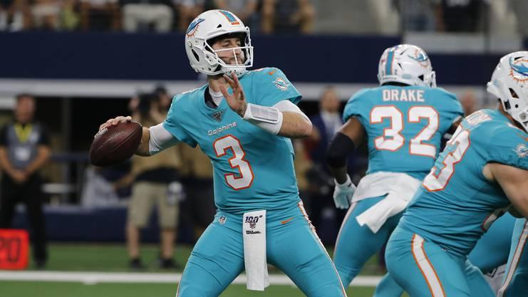 Youngster Josh Rosen ist bemitleidenswert: Der talentierte Quarterback wird bei den Dolphins im Stich gelassen.