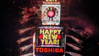 Auch New York begrüsst das neue Jahr: Am Times Square ging die traditionelle Silvesterparty über die Bühne.