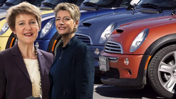 Zuwachs bei der Mini-Fraktion: Neben Simonetta Sommaruga (SP) setzt auch Karin Keller-Sutter (FDP) auf einen Mini.
