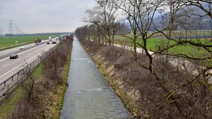 Die Dünnernsanierung wird zusammen mit dem A1-Sechsspur-Ausbau geplant.