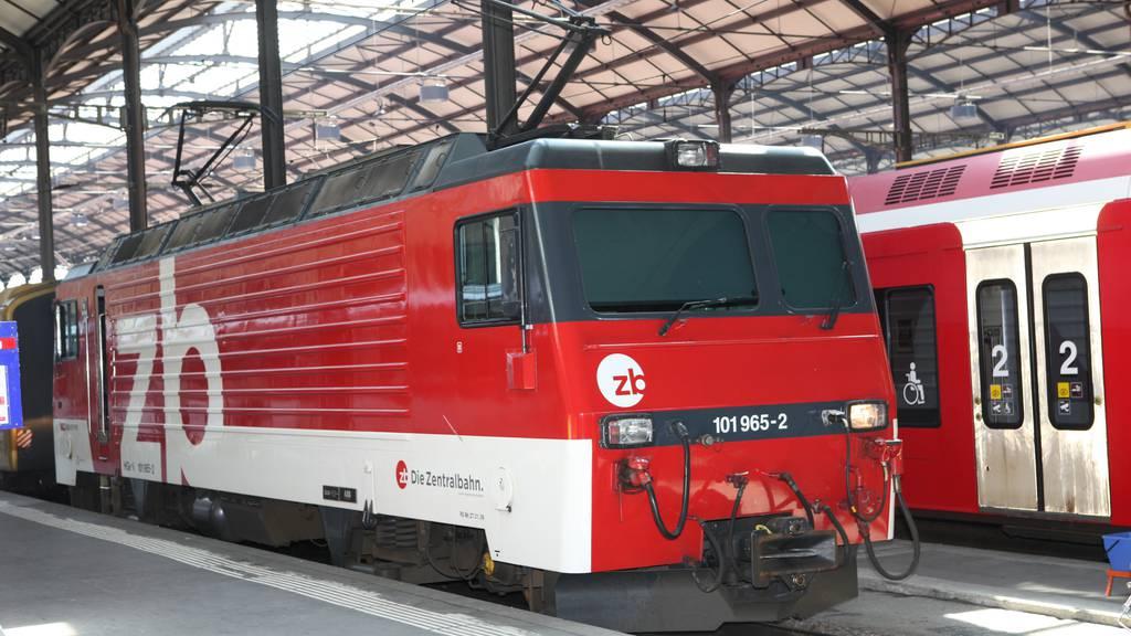 Zentralbahnstrecke Luzern-Hergiswil 1 Woche gesperrt