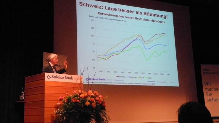 Thomas Straubhaar referierte über unsichere Zeiten und die Folgen für Anleger