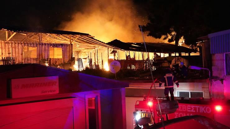 """Das Gemeinschaftszentrum """"One Happy Family"""" war durch das Feuer am 7. März zerstört worden. (Archivbild)"""