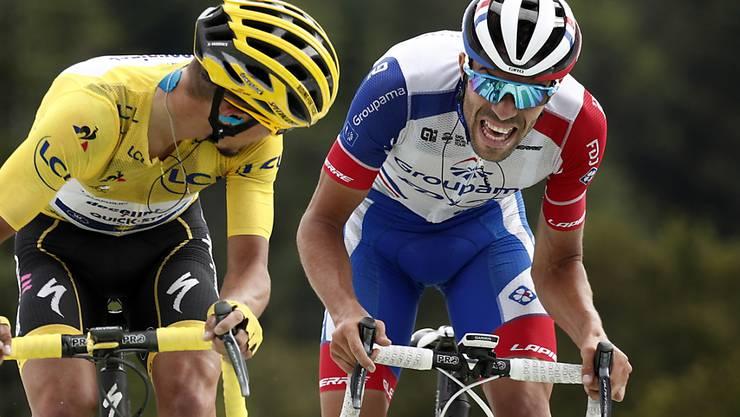 Zwei Franzosen sorgen bei ihren Landsleuten für Ekstase: Julian Alaphilippe (links) bleibt auch nach der Tourmalet-Etappe Leader, Thibaut Pinot holt sich den Tagessieg