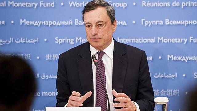 Mario Draghi: Euro-Zone gut gegen Griechenland-Ansteckung gewappnet