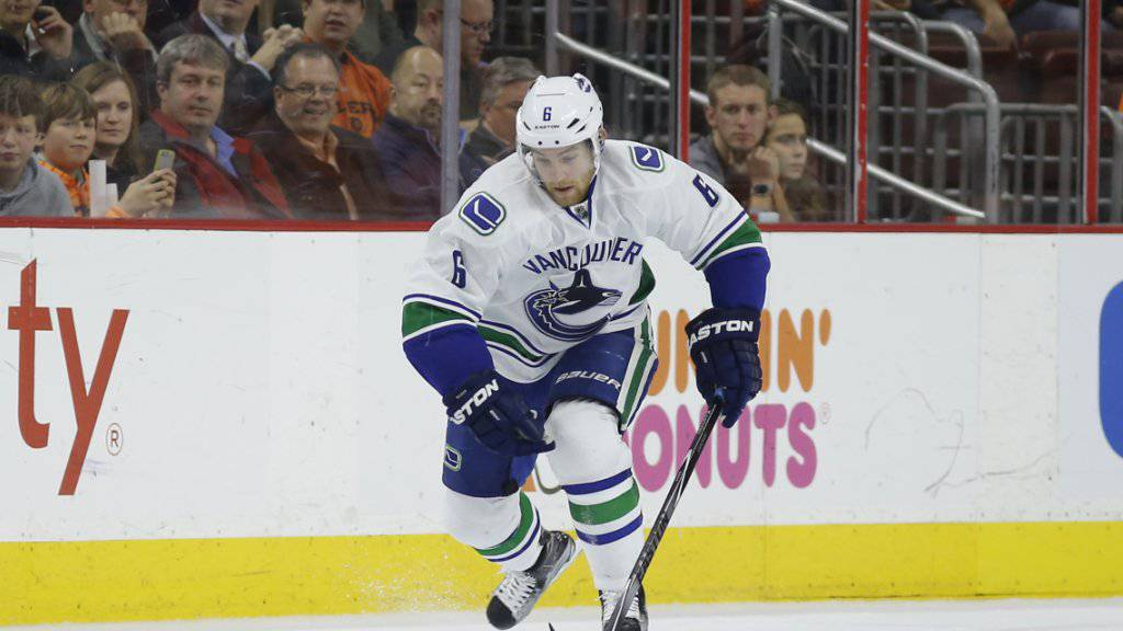 Yannick Weber siegte mit den Vancouver Canucks 2:1 nach Verlängerung gegen die Edmonton Oilers