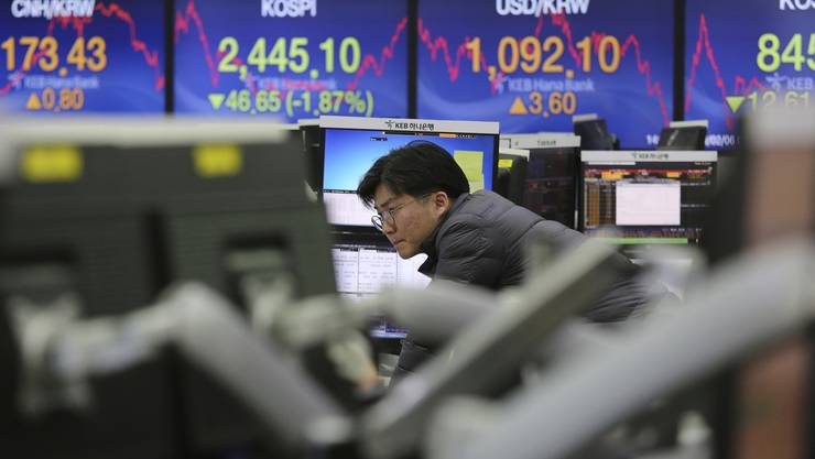 In der Nacht auf Dienstag hat der Kurseinbruch an der Wall Street bereits die asiatischen Leitbörse in Tokio in die Tiefe gerissen.