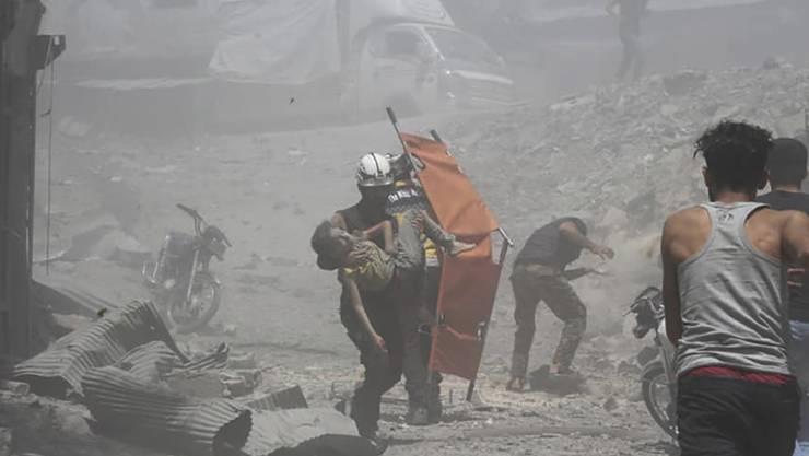 Bereits im Juli war es in der syrischen Rebellenhochburg Idlib zu schweren Gefechten zwischen Aufständischen und Regierungstruppen mit mehreren Opfern gekommen. (Archivbild)