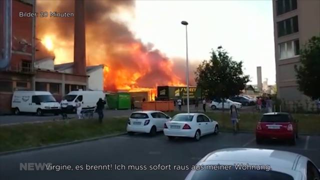 Bulle: Grossbrand ruiniert Sägewerk von Jean-Francois Rime