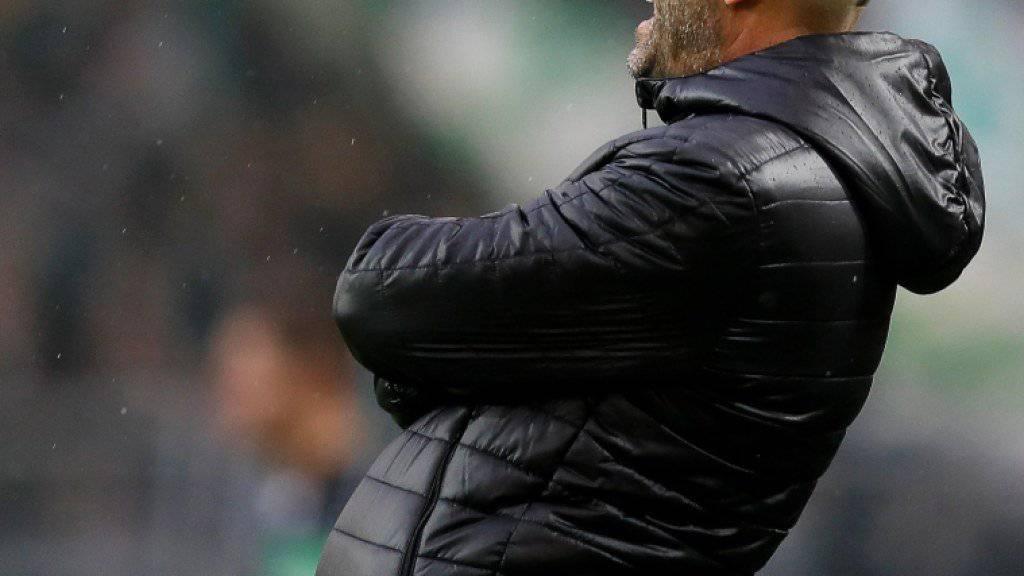 Nur kurze Zeit in Dortmund: Coach Peter Bosz