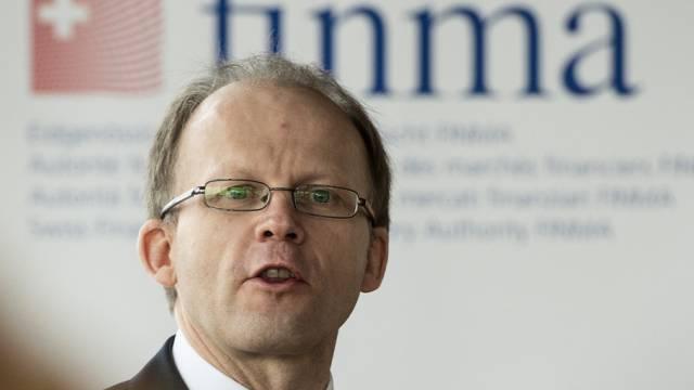 David Wyss von der Finma am Dienstag vor den Medien in Bern