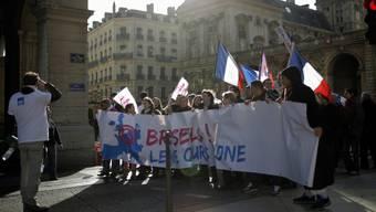 Protest gegen die Familienpolitik der französischen Regierung