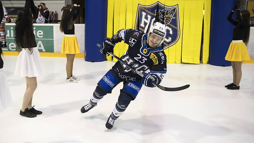 Der erste Torschütze der laufenden Swiss-League-Saison: Daniel Carbis vom HC La Chaux-de-Fonds