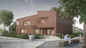 Der neue Doppelkindergarten Gjuch kommt auf einem Teil der Lozziwiese zu stehen. Der dadurch kleiner werdende Park soll für das Quartier aufgewertet werden.