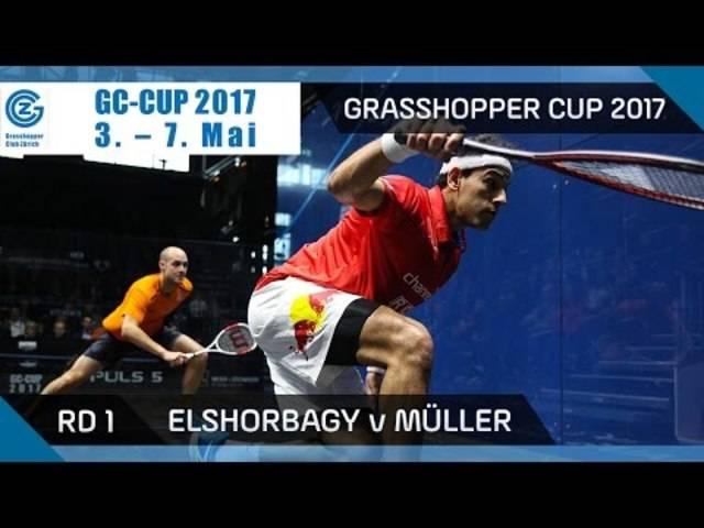 Squash: Mo. ElShorbagy v Müller - Grasshopper Cup 2017 Rd 1 Highlights