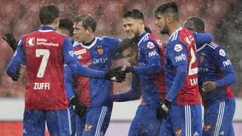 Grund zur Freude: Gegen GC darf der FC Basel einen verdienten Sieg feiern.