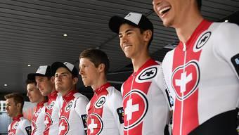 Die sieben Fahrer des Schweizer Nationalteams an der 83. Tour de Suisse