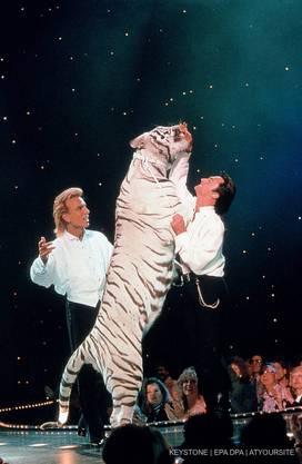 Siegfried und Roy bei einer Shot in Las Vegas