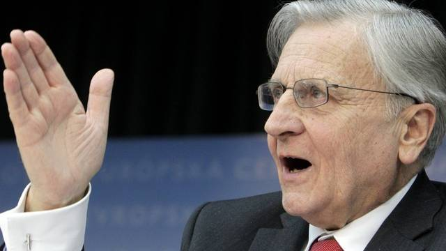 Zeigt, wohin der Leitzins der Europäischen Zentralbank schon bald gehen könnte: EZB-Präsident Trichet