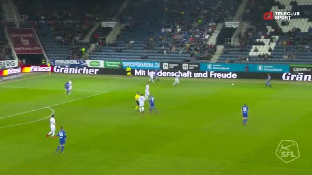 Super League, Saison 2018/19, Runde 26  FC Luzern - FC Basel, Chance Demhasaj