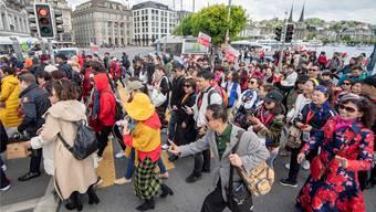 «XXL-Reisegruppe»: Am Montag sind 4000 chinesische Gäste nach Luzern gereist.
