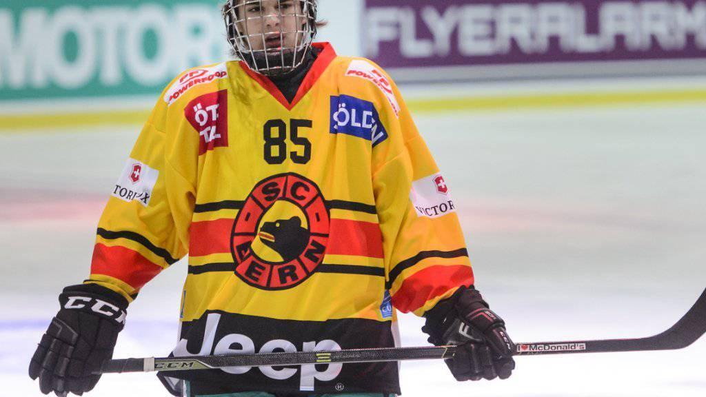 Nico Hischier, Goalgetter in der Québec Major Junior Hockey League, vor einem Jahr im Dress des SC Bern