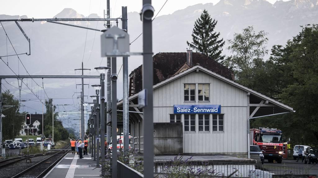 Der Bahnhof Salez-Sennwald.